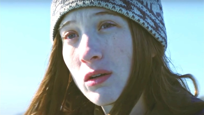 Sophie Lowe wearing hat in Blow the Man Down
