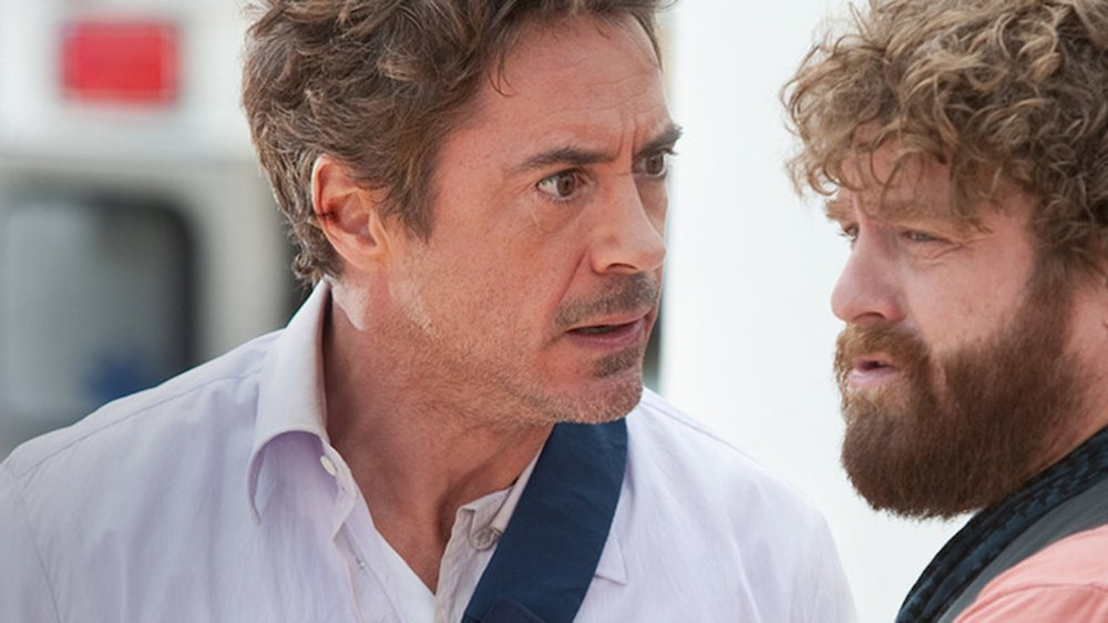 Robert Downey Jr. and Zach Galifianakis in Due Date