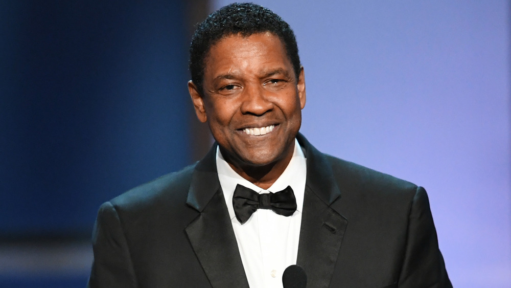Denzel Washington smiling