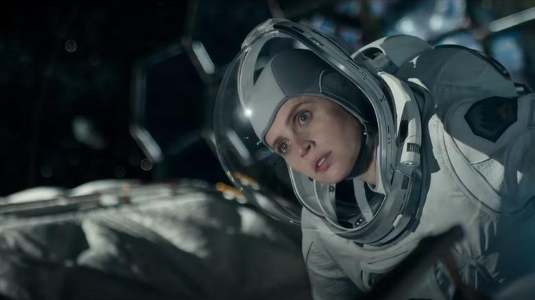 Felicity Jones as astronaut Sully in The Midnight Sky