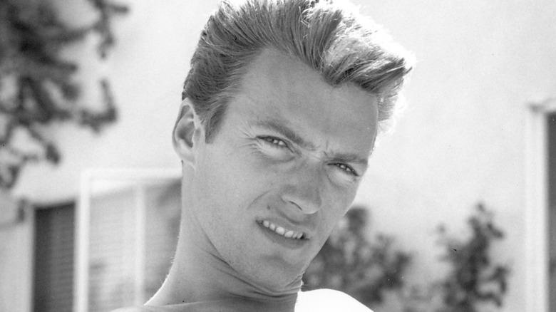 Clint Eastwood sneering