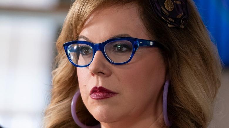 Penelope Garcia with blue frames