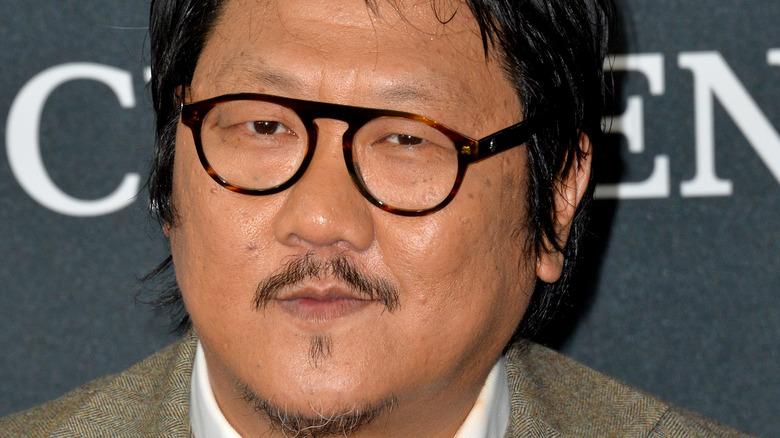 Benedict Wong wearing glasses