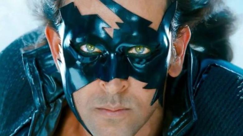 Krrish wearing mask