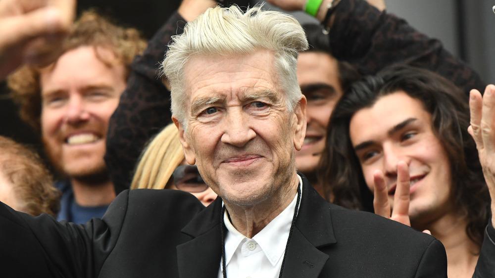 David Lynch waving