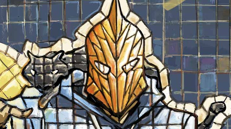 Dr. Fate mosaic with cat