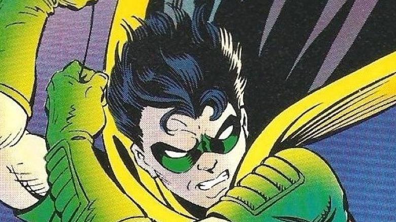 Tim Drake's Robin swings across city