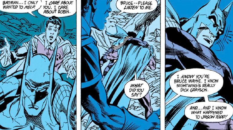 Tim Drake knows Batman's secret identity