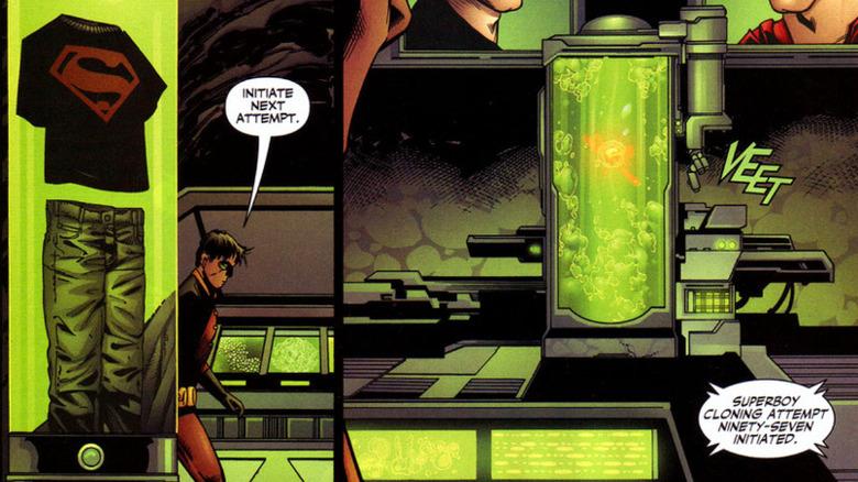 Tim Drake fails to clone Superboy