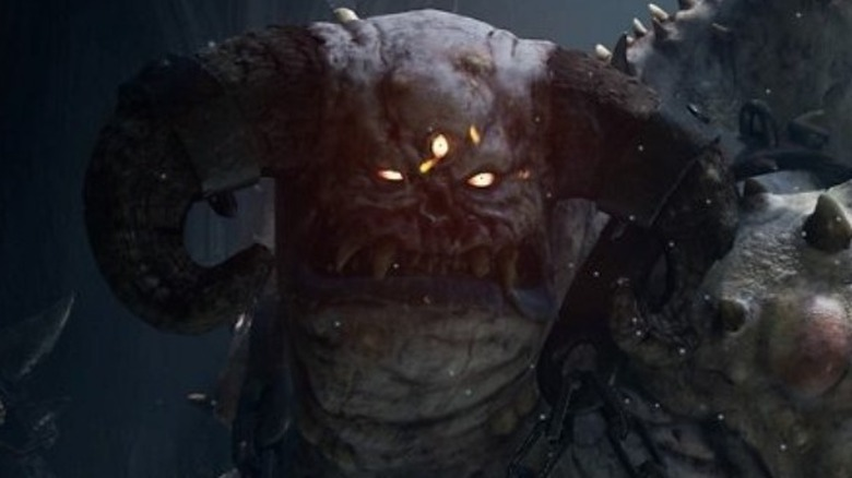 Vanguard boss making scary face