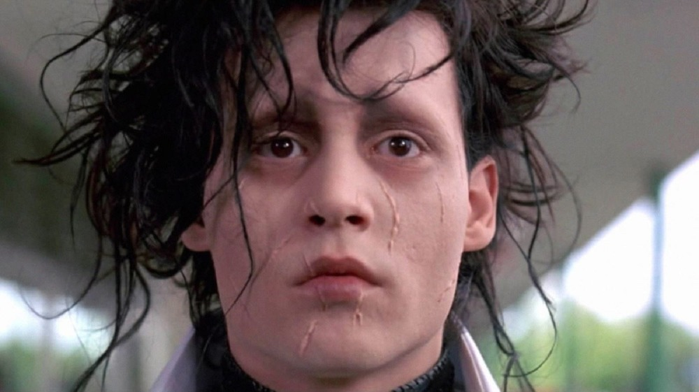 Edward Scissorhands looking sad