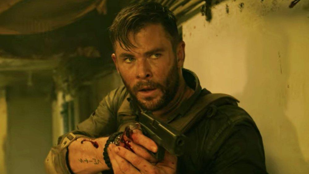 Chris Hemsworth as Tyler Rake in Netflix's Extraction