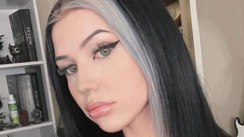 Kalei Renay white streak hair