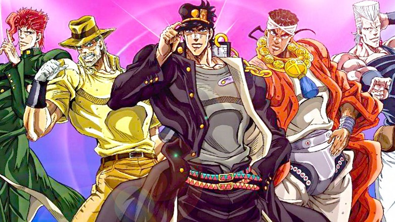 The Stardust Crusaders from Part Two of the 2012 JoJo Anime