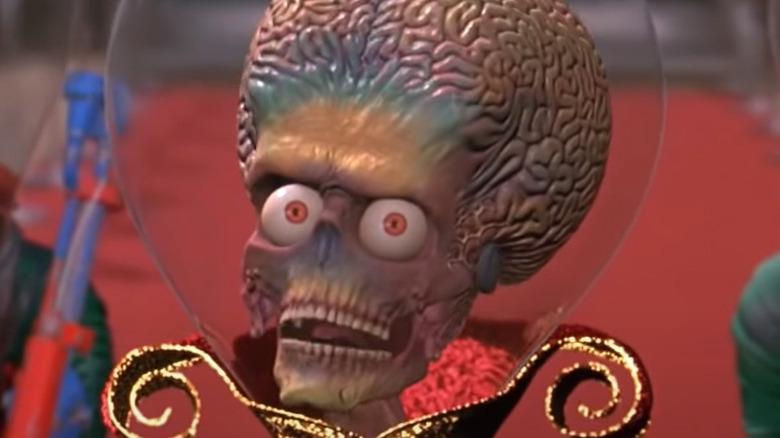 A Martian prepares to speak