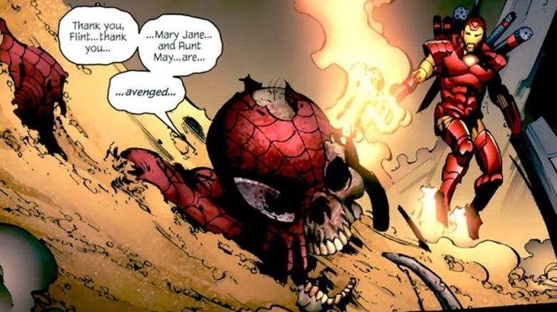 Zombie Spider-Man killed by Sandman
