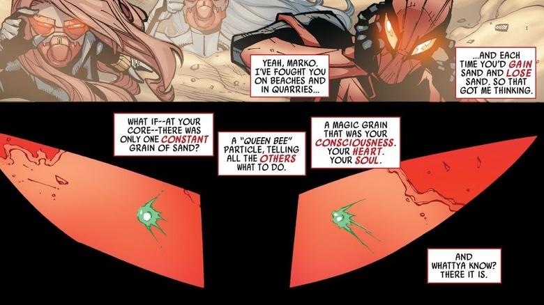 Spider-Man finds Sandman's main particle