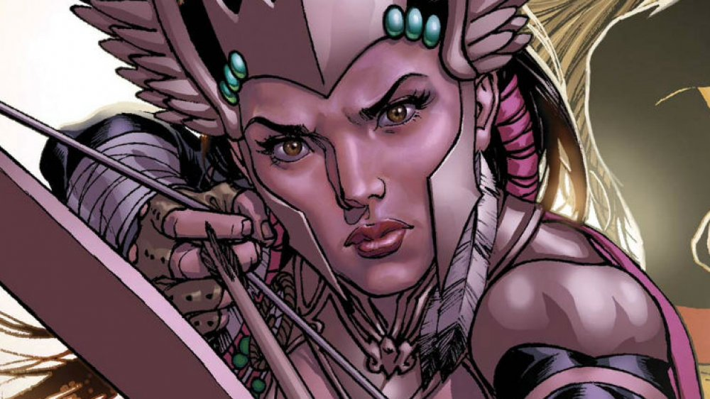 Mirage on the cover of War of the Realms: Uncanny X-Men #1