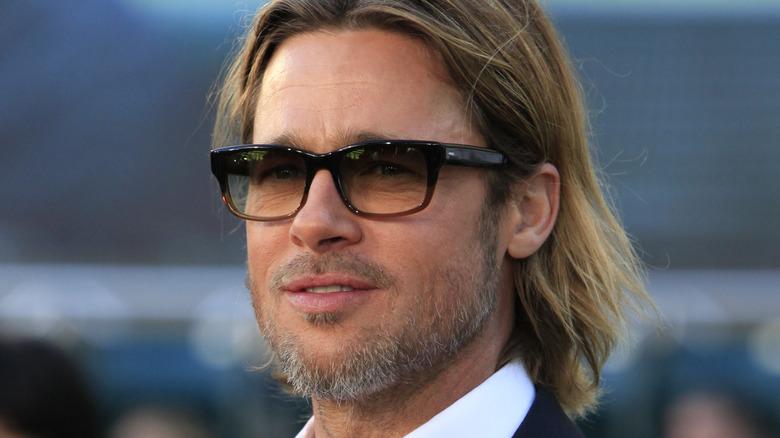 Brad Pitt at Moneyball premiere