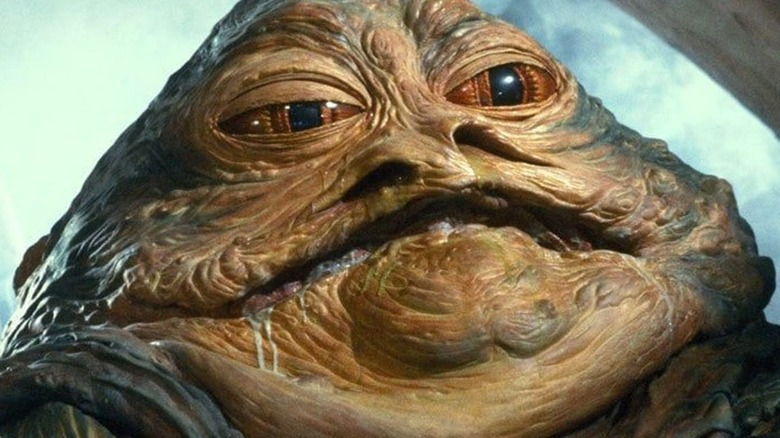 Jabba the Hutt smiling