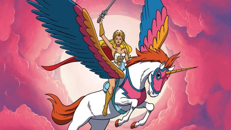 She-Ra and Swift Wind from She-Ra: Princess of Power