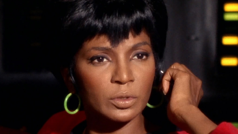 Uhura listens on hailing frequencies