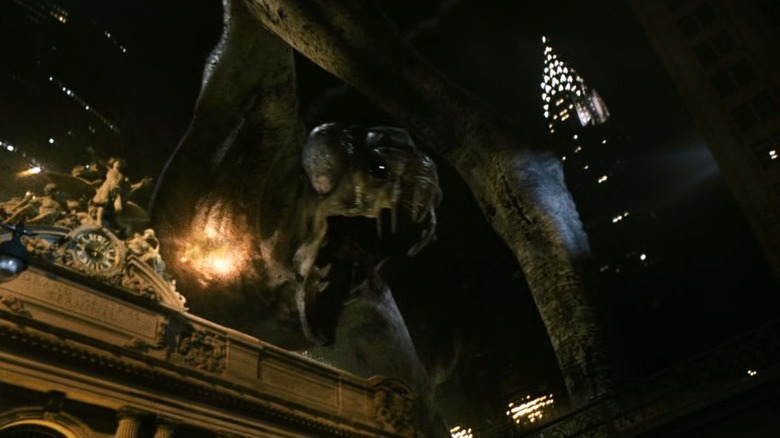 The Cloverfield monster rampages