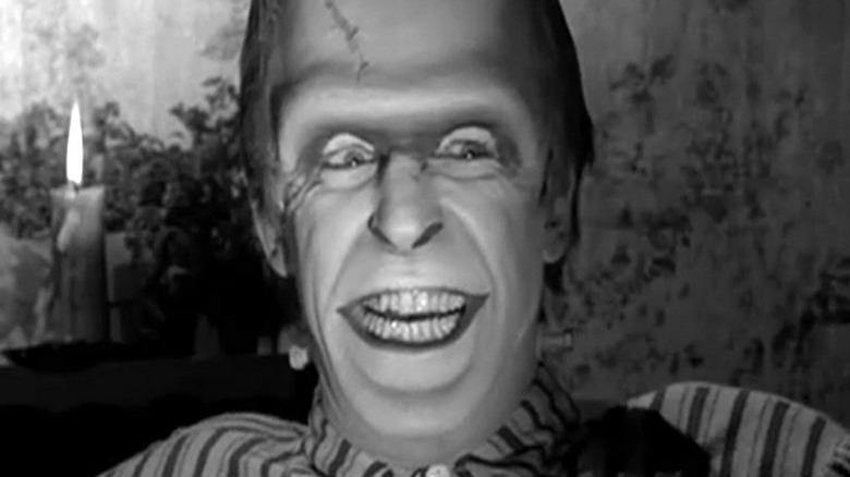 Herman Munster grinning