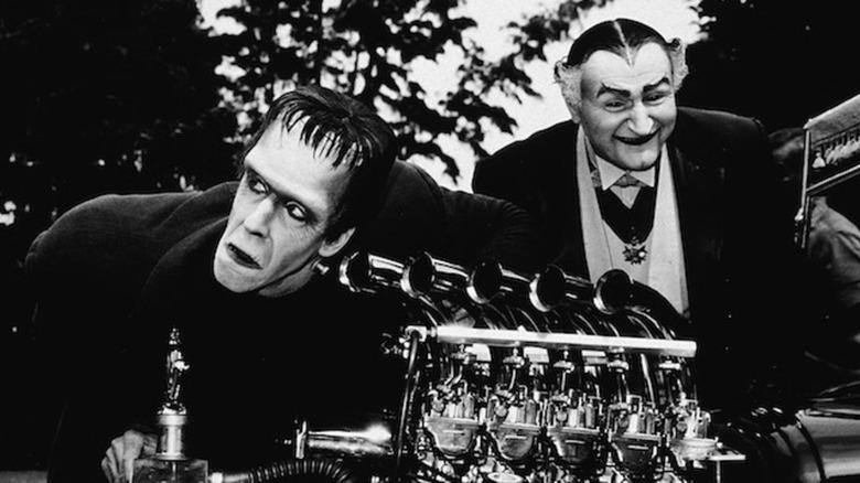 Herman and Grandpa work on car