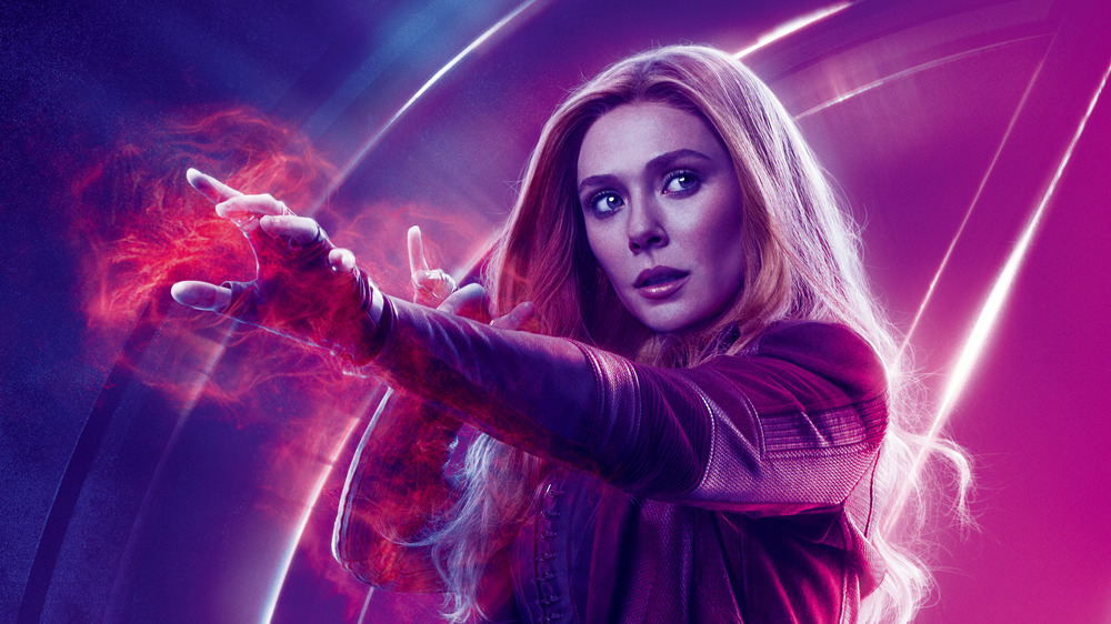 Scarlet Witch using her powers