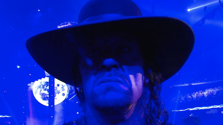 The Undertaker approaching the ring at Wrestlemania 25