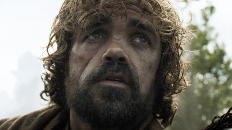 Tyrion Lannister looking upward