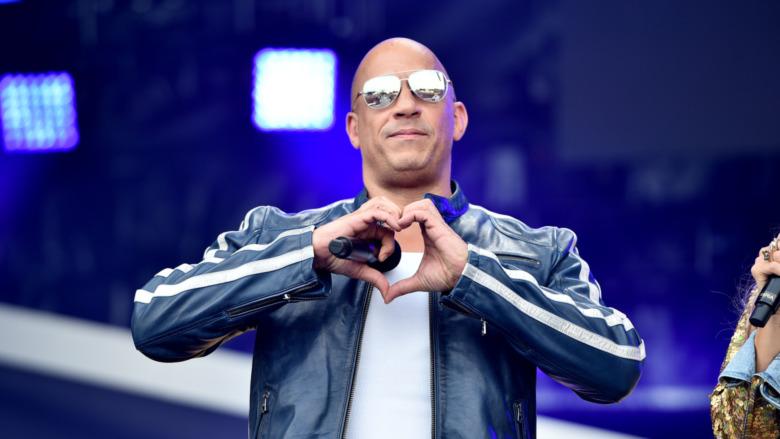 Vin Diesel hearts crowd
