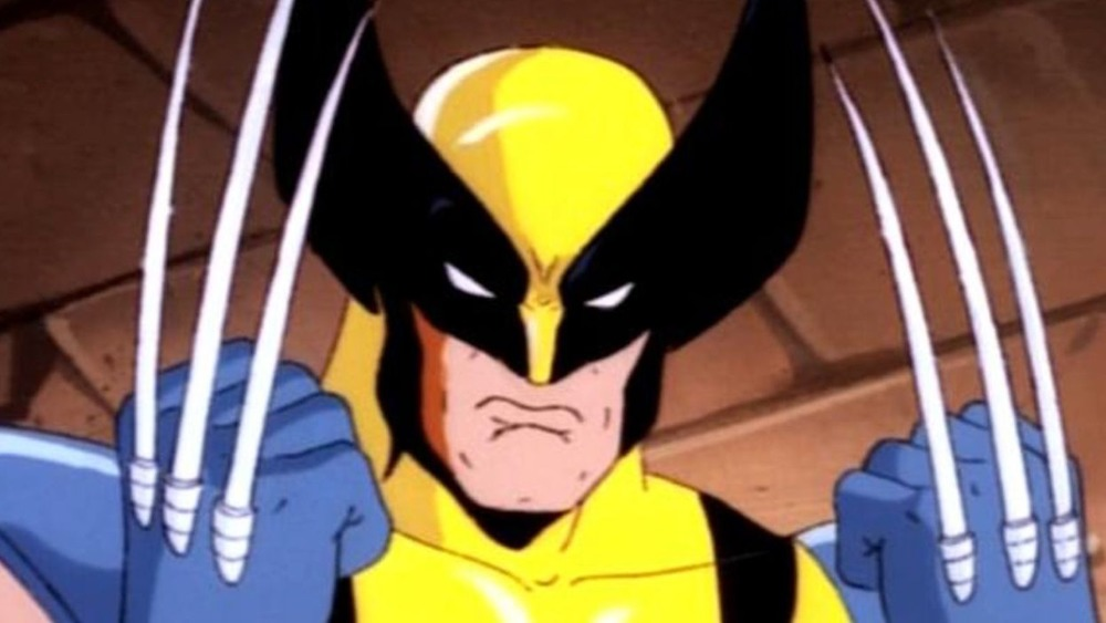Wolverine with claws up