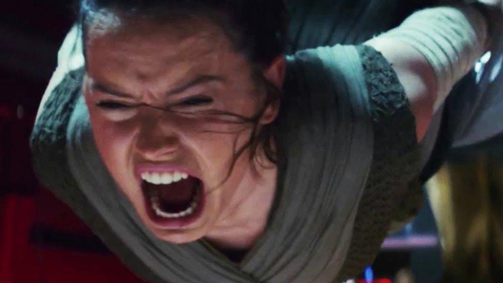 Daisy Ridley screaming Rey Star Wars