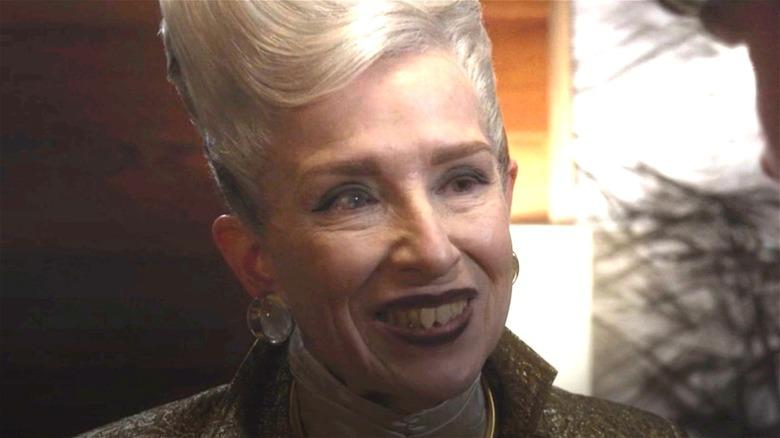 Frances Conroy smirking