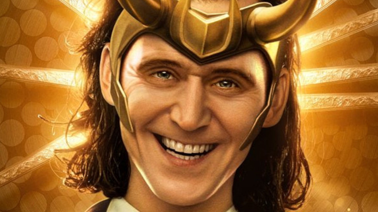 Tom Hiddleston as President Loki smiling