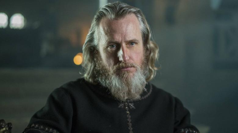 Linus Roache portrays King Ecbert of Wessex on History's Vikings