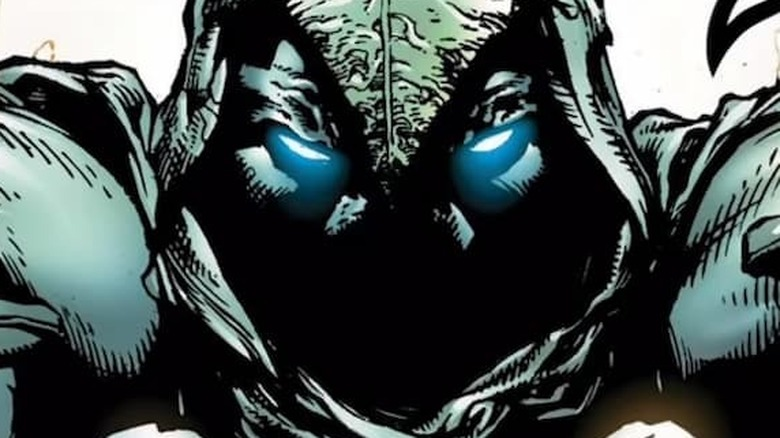 Moon Knight behind mask