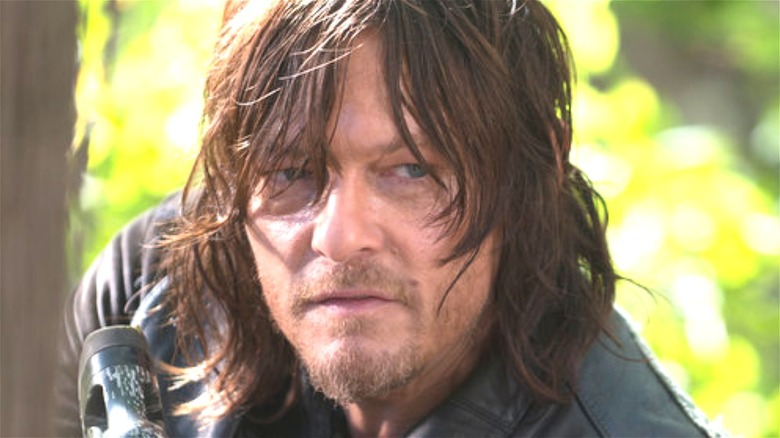 Daryl Dixon looks determined