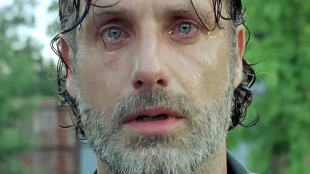 Andrew Lincoln Rick Grimes crying