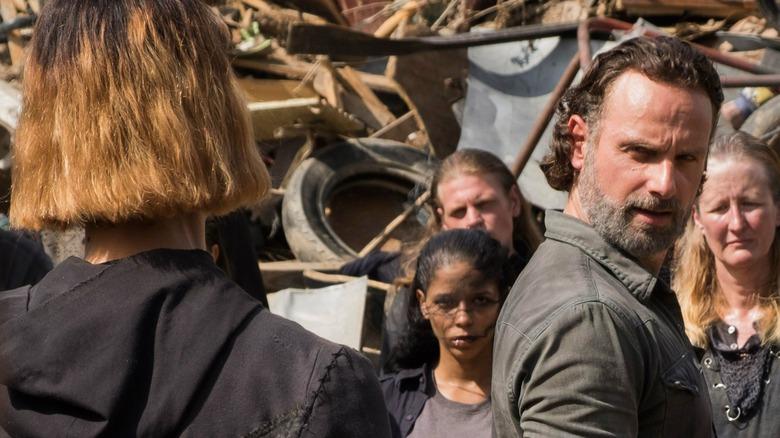 Rick Grimes and Jadis staredown