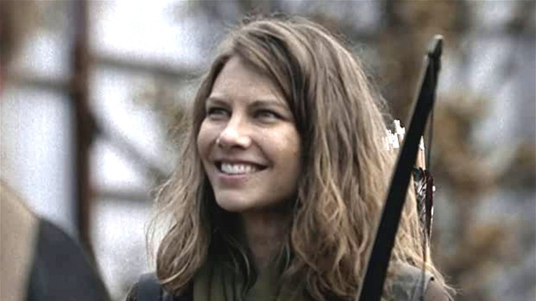 Maggie on 'The Walking Dead' smiling