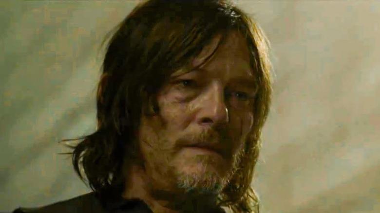 Norman Reedus upset in The Walking Dead