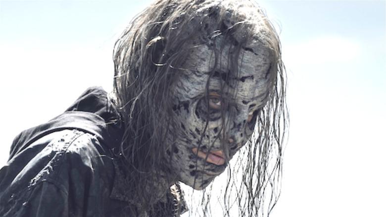 Maggie wearing a walker face