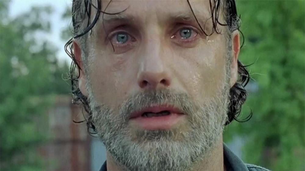 Rick Grimes crying