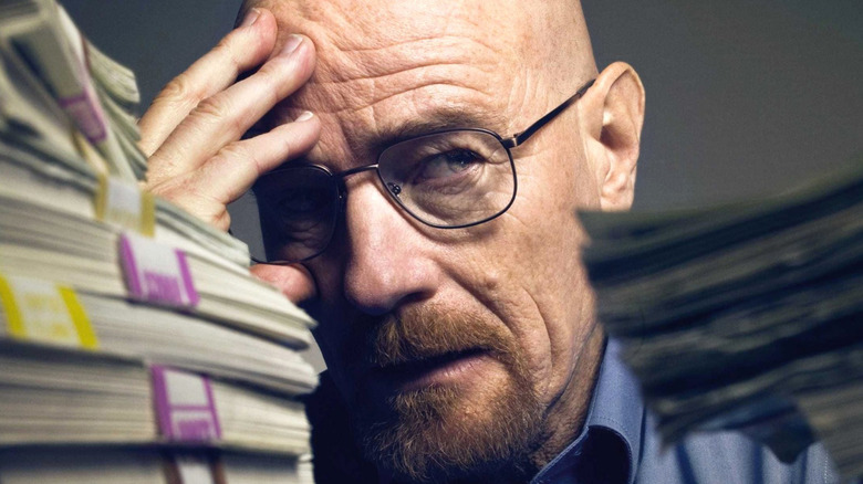 Walter White with his money