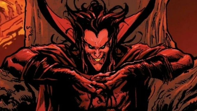 Mephisto smiling