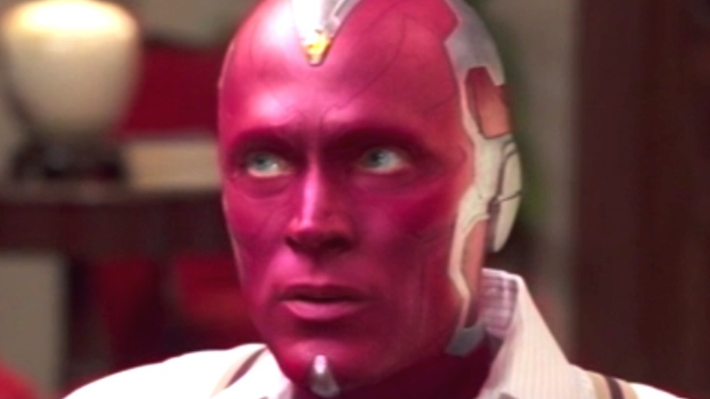 Vision looking to his right