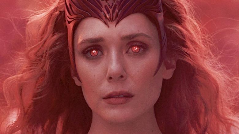 WandaVision Scarlet Witch glowing red eyes